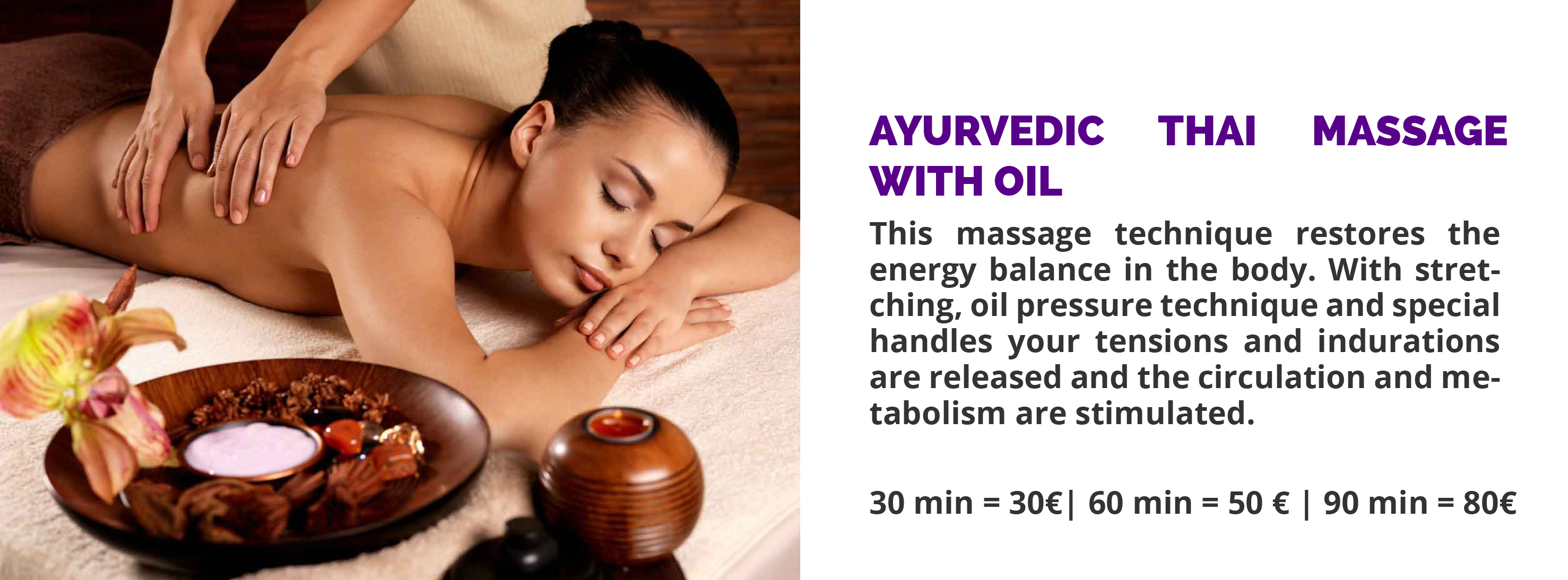 Ayurvedic Thai massage with oil Speyer